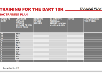 10k swim training plan