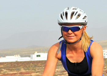Cycling beginner triathletes