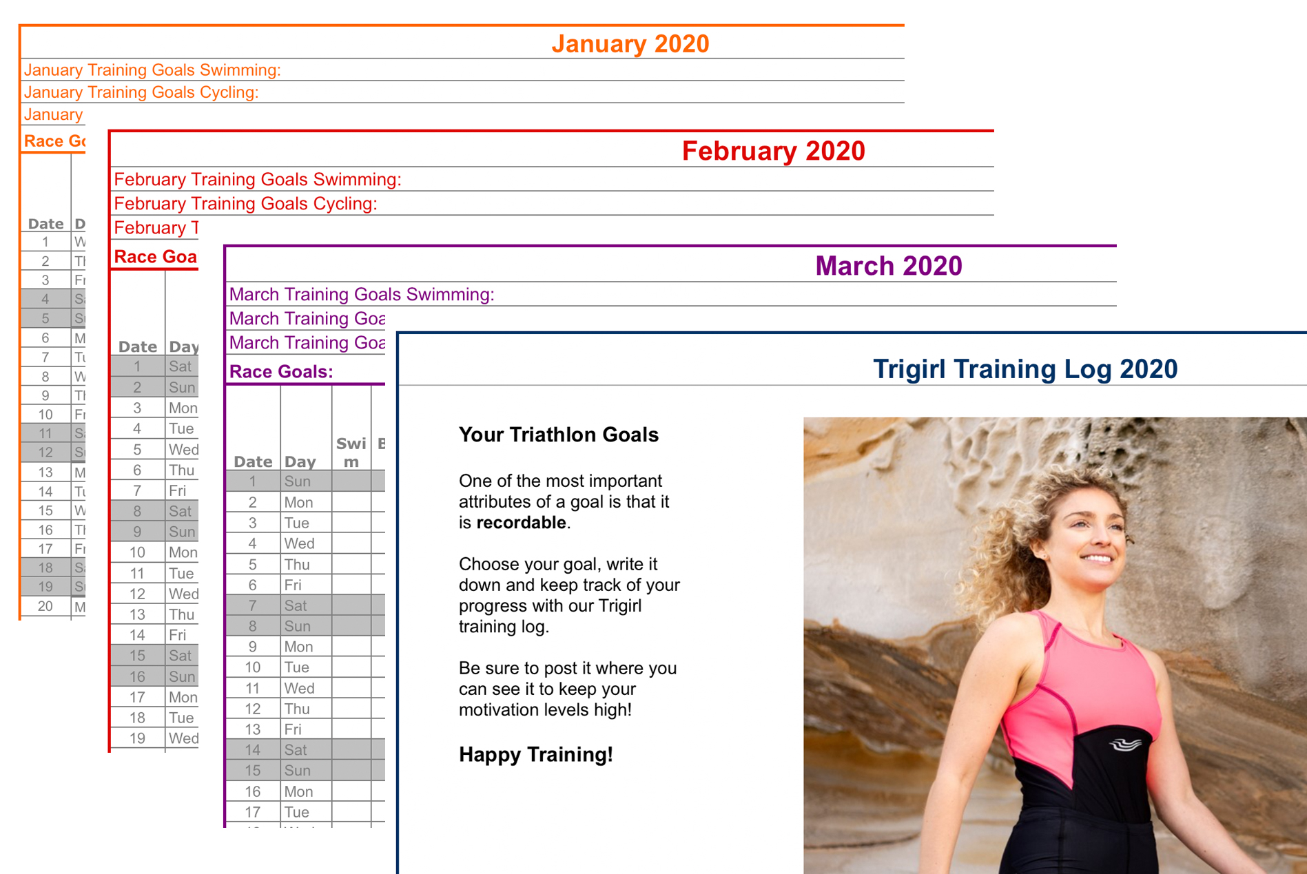 Triathlon training log 2020