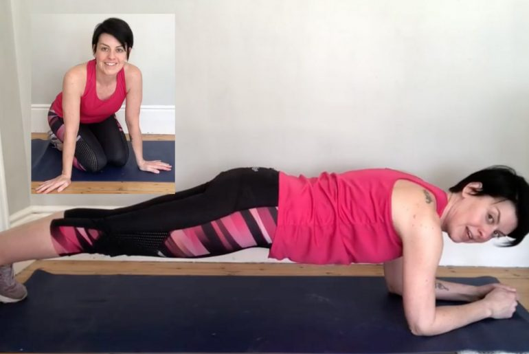 Triathlete and coach, Kristin Duffy, showing you how to master the perfect plank